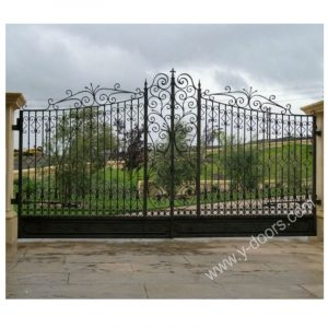 Wrought Iron Hand Forged Steel Main Gate SY-GT-M809