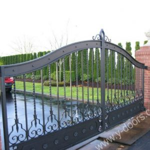 Wrought Iron Hand Forged Steel Main Gate SY-GT-M810