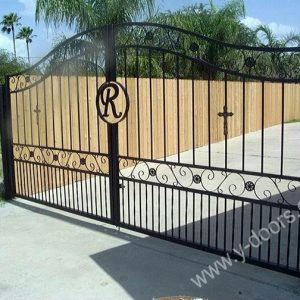 Wrought Iron Hand Forged Steel Main Gate SY-GT-M811