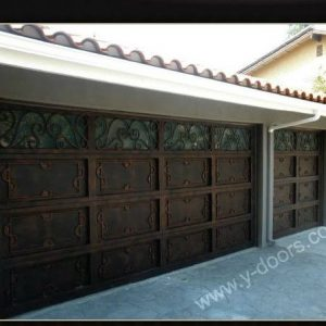 Hand forged Wrought Iron Steel Garage Door SY-GD-M502