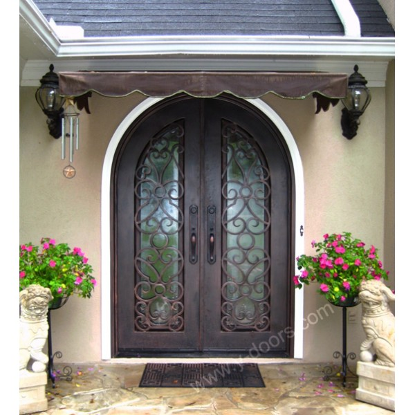 radius-top-hand-forged-wrought-iron-double-entry-door-sy-dr-m6037-rtrp-
