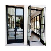 latest-front-wrought-iron-glass-door-design