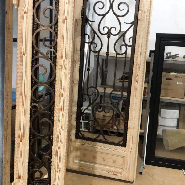 Wooden Finish Iron Doors