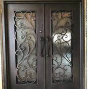 Wrought iron entry doors and windows (4)