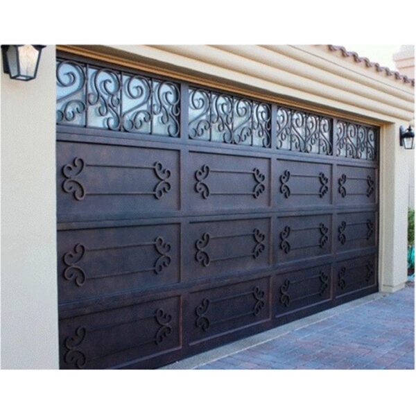 Wholesale-cheap-prices-customized-wrought-iron-garage (3)