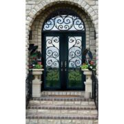 cast iron security front door