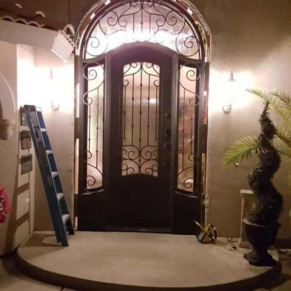 wrought iron entry double door (27)