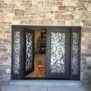 wrought iron entry double door (78)