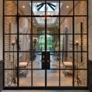 wrought iron french swing entrance door 2