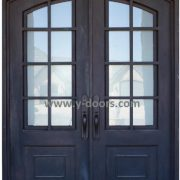 Single Eyebrow Arch Wrought Iron Door SY-SR-M6008-ETEP