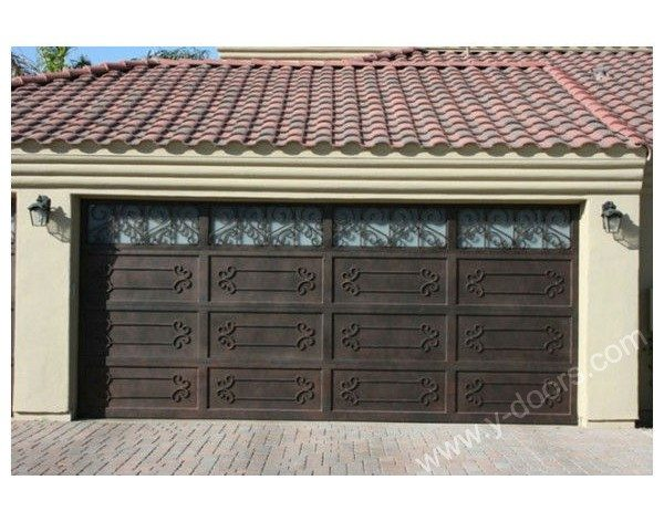 Hand forged Wrought Iron Steel Garage Door SY-GD-M501