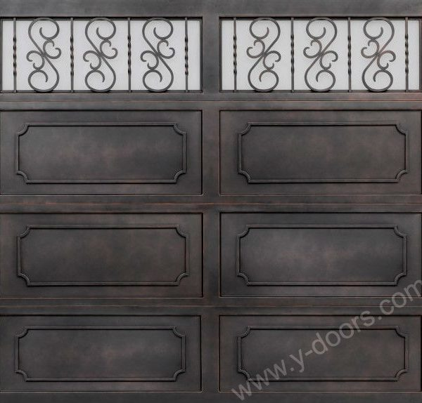Hand forged Wrought Iron Steel Garage Door SY-GD-M503