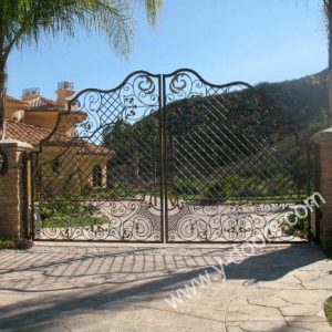 Wrought Iron Hand Forged Steel Main Gate SY-GT-M803