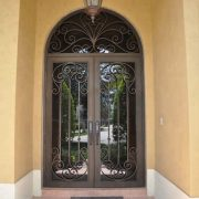External-decorative-entrance-double-swing-wrought-iron