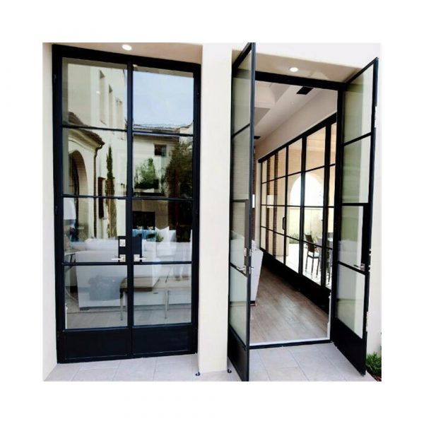 latest-front-wrought-iron-glass-door-design