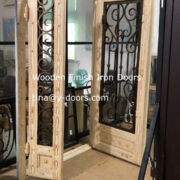 Wooden Finish Iron Doors (1)