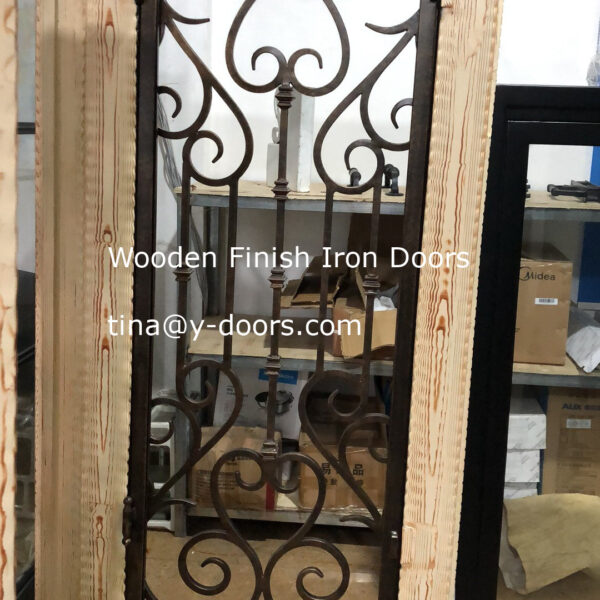 Wooden Finish Iron Doors (3)