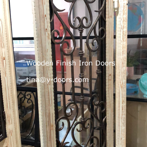 Wooden Finish Iron Doors (4)