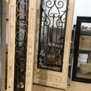 Wooden Finish Iron Doors