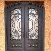Wrought iron entry doors and windows (19)