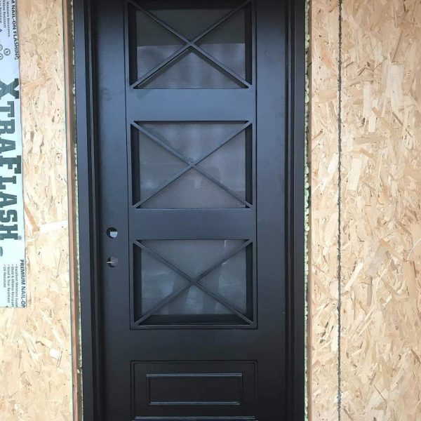 Wrought iron entry doors and windows (2)