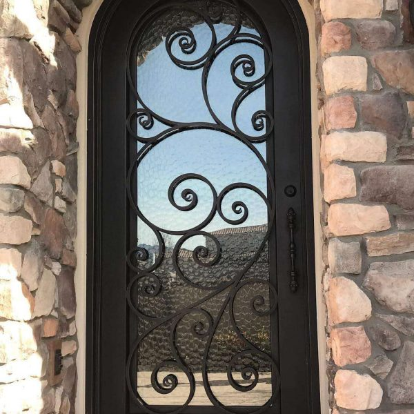 Wrought iron entry doors and windows (49)