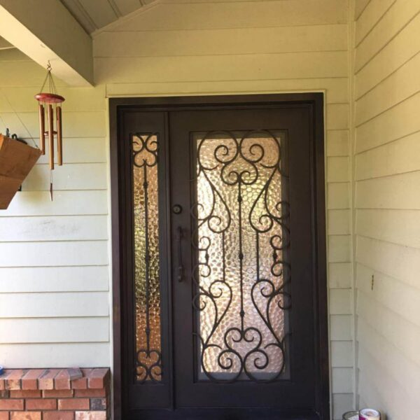 wrought iron entry double door (90)