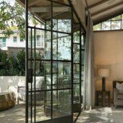 wrought iron french folding entrance door 4